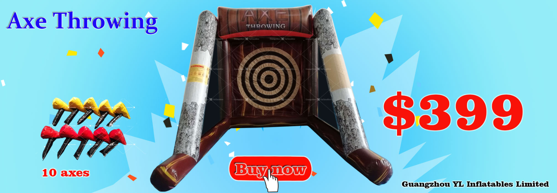 399USD Inflatable Axe throwing for 2019 Carnival