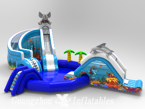 Elephant and Dolphin Water Pool Slides