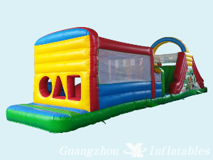 Inflatable Dry Obstacle Slides