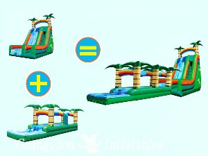 2 in 1 Inflatable Water Slides