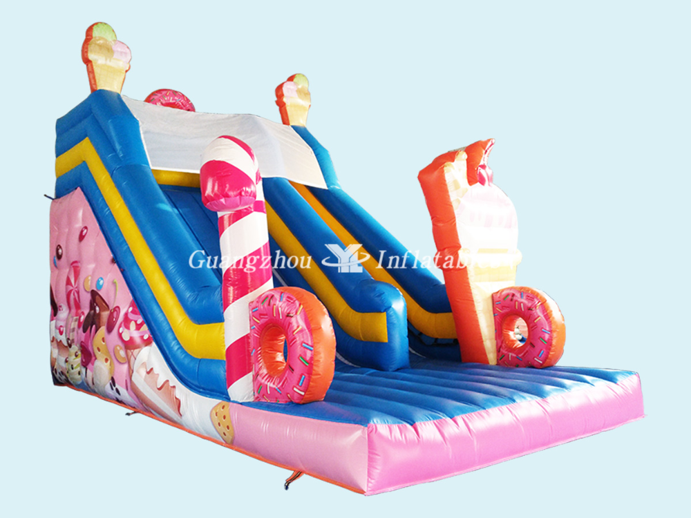 China Inflatables Factory Candy Themed Bouncy Slides Yl