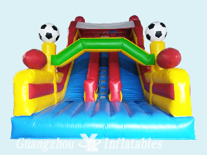 Inflatables Sports Ball Double Lane Slides