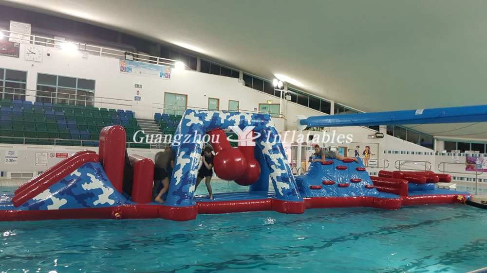 Inflatable Water Obstacle Course Race For Swimming Pool