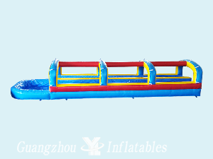 Large Inflatable Slip Slides and Water Pool
