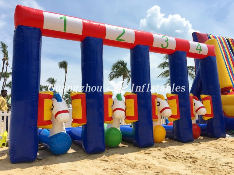 inflatable pony race track games
