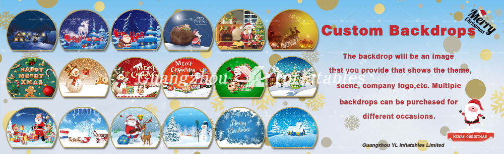Inflatable Snow Globes Background for advertising