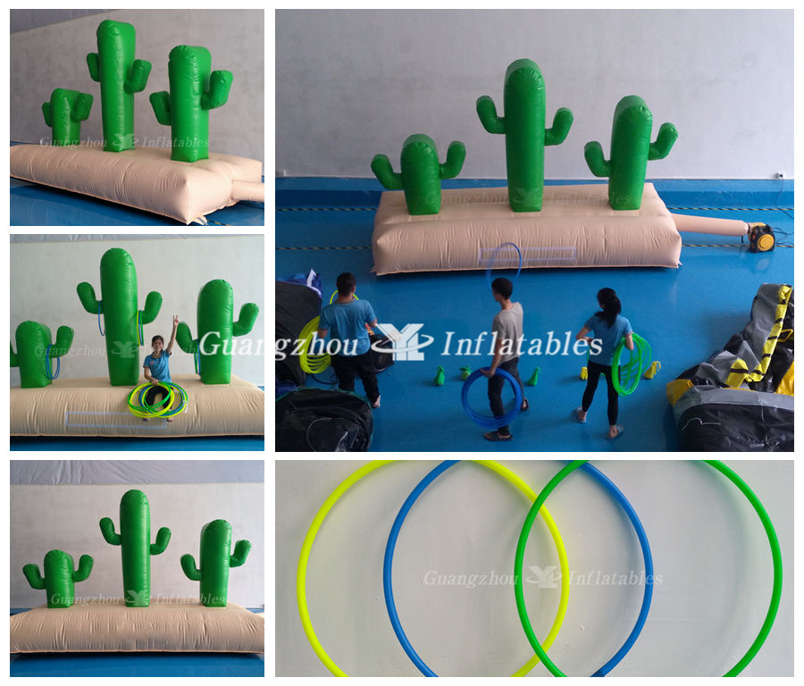 Inflatable Cactus shape Hoopla Game