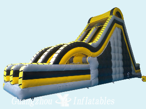 Crazy Inflatable Double Slides with Air Bag