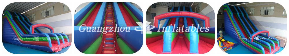Longer Inflatable Double Slides