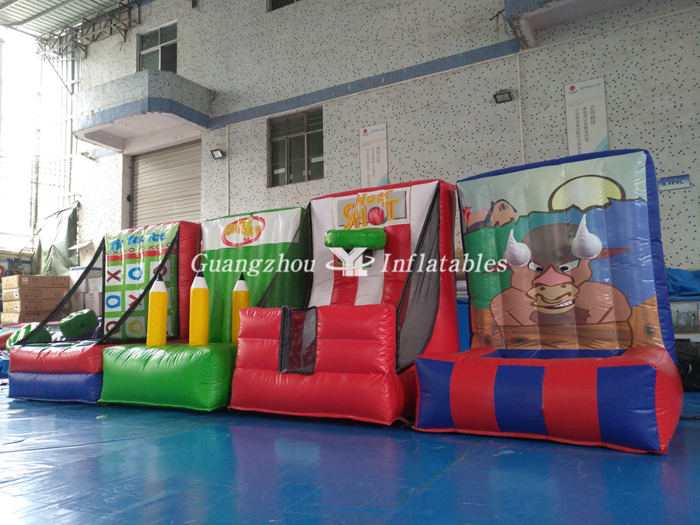 inflatable slam dunk and ring toss games
