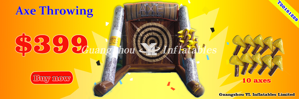Inflatable axe throwing 399usd Promotion
