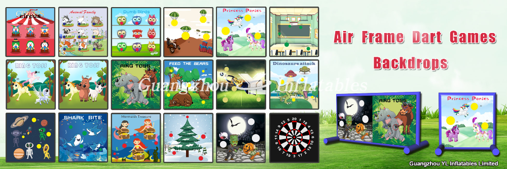 air frame darts games backdrops promotions