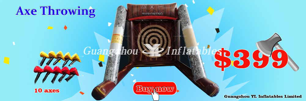10 Axe Throwing Inflatables Games 399usd