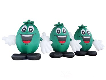 Inflatable Smile Face Tree Cartoon Model