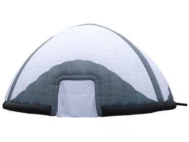 White and Black Inflatable Dome Tent
