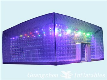 Led Lighting Transparent Inflatable Bubble Tent