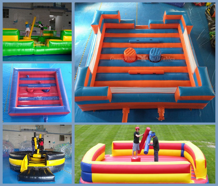 Inflatable Gladiator Game Arena,inflatable fighting game factory
